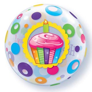 Cupcake Mayflower Birthday Bubble