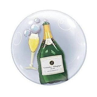 Champagner Flasche Double Bubbles