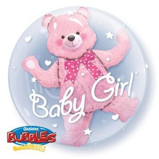 Teddybär Pink - Baby Girl - Double Bubbles