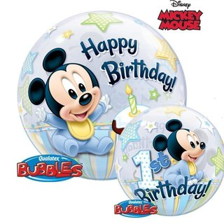 Mickey Mouse 1st Birthday 1er Geburtstag Bubbles